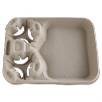StrongHolder Molded Fiber Cup/Food Trays, 8-44oz, 2-Cup Capacity
