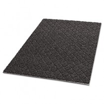 Diamond-Deluxe Duet Vinyl-Loop Floor Mat, Vinyl, 36 x 60, Gray/Black