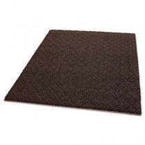 Diamond-Deluxe Duet Vinyl-Loop Floor Mat, Vinyl, 48 x 72, Brown/Caramel