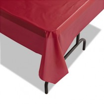 "Plastic Tablecovers, 40"" x 100ft, Burgundy"