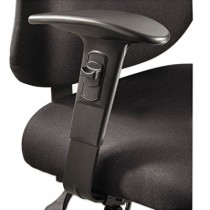 Optional T-Pad Adjustable Arms for Alday 24/7 Task Chair, Black, 1 Pair