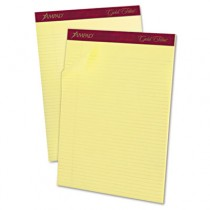 Gold Fibre Pads, Narrow/Margin Rule, Ltr, Canary, 50-Sheet Pads/Pack, Dozen