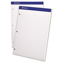 Evidence Pad, Dual College/Med Ruled, 8-1/2 x 11 3/4, White, 100 Sheets