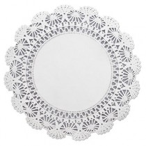 "Cambridge Lace Doilies, Round, 10"", White"
