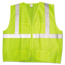 JACKSON SAFETY ANSI Class 2 Deluxe Safety Vest, XL/XXL, Lime/Silver