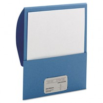Textured Stackit Folders, Letter Size, Blue