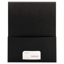 Textured Stackit Folders, Letter Size, Black