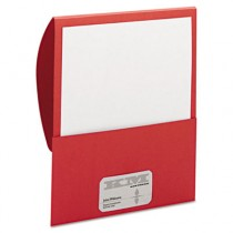 Textured Stackit Folders, Letter Size, Red