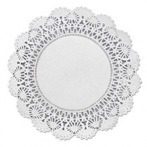 "Cambridge Lace Doilies, Round, 8"", White"