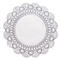 "Cambridge Lace Doilies, Round, 12"", White"