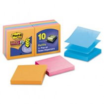 Pop-Up Notes, 3 x 3, Electric Glow, 10 90-Sheet Pads/Pack
