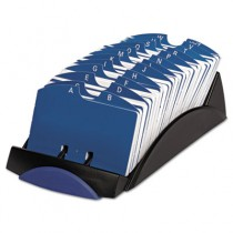 VIP Open Tray Card File with 24 A-Z Guides Holds 500 2 1/4 x 4 Cards, Black