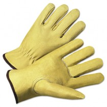 4000 Series Pigskin Leather Driver Gloves, Beige, Large