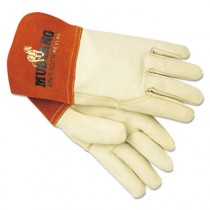 Mustang Mig/Tig Welder Gloves, Tan, Medium