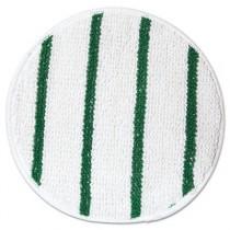 """Low Profile Scrub-Strip Carpet Bonnet, Carpet, 17"""", White/Green"""