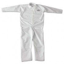 KLEENGUARD A20 Coveralls, MICROFORCE Barrier SMS Fabric, White, 2XL