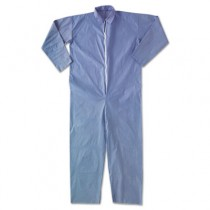 KLEENGUARD A65 Flame-Resistant Coveralls, Blue, XL