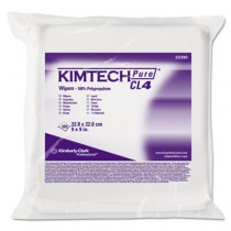 KIMTECH PURE W4 Dry Wipers, Flat, 9 x 9, White