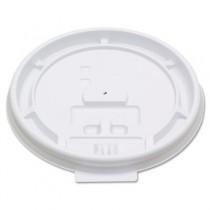 Hot Cup Tear-Tab Lids, 8oz, White