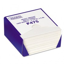 P475 DryWax Patty Paper Sheets, 4 3/4 x 5, White, 1000 Sheets/Box