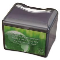 Venue Napkin Dispenser w/Advertising Inset, 6-1/2x6-1/8x6-8/9, Cap: 200, Black