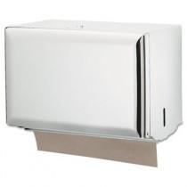 Standard Key-Lock Singlefold Towel Dispenser, Steel, 10 3/4 x 6 x 7 1/2, White