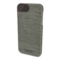 Vesto Textured Leather Case, for iPhone 5, Gray Lizard