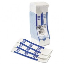 Self-Adhesive Currency Straps, Blue, $100 in Dollar Bills, 1000 Bands/Box
