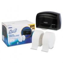 """SCOTT Coreless JRT Bath Tissue Dispenser, 17.25""""x11.81""""x11.56"""", Smoke/White"""