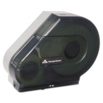 Jumbo Jr. Tissue Dispenser w/Stub Roll & Mandrel, 6-3/8 x 16-7/8 x 14-1/8, Smoke