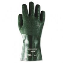 Snorkel Chemical-Resistant Gloves, Size 10, PVC/Nitrile/Nylon/Jersey, Green