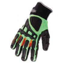 ProFlex? 925F(x) Dorsal Impact-Reducing Gloves, Black-Green-Orange, Large