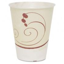 Trophy Symphony Foam Cups, 10oz, Beige/White/Red, 50/Sleeve