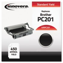 PC201 Compatible, Remanufactured, PC201 Thermal Transfer, 450 Page-Yield, Black