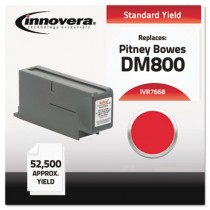 7668 Compatible, Remanufactured, 766-8 Postage Meter,  52500 Page-Yield, Red