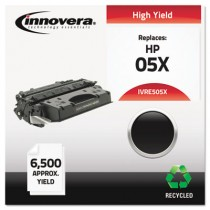 E505X Compatible, Remanufactured, CE505X (05X) Laser Toner, 6500 Yield, Black