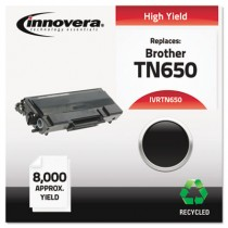 TN650 Compatible, Remanufactured, TN650 Laser Toner, 8000 Page-Yield, Black