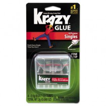 Krazy Glue Single-Use Tubes w/Storage Case, 4/Pack