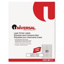 """Laser Printer File Folder Labels, 3-7/16"""" x 2/3"""", Assorted, 750/Pack"""