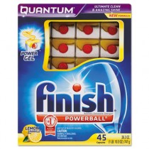 Quantum Dishwasher Tabs, White, Lemon Sparkle, 45 Tab Pack