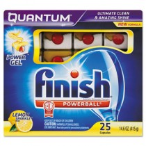 Quantum Dishwasher Tabs, White, Lemon Sparkle, 25 Tab Pack