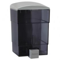 Deluxe Triad Soap Dispenser, 50 oz, 4-3/4w x 4-1/4d x 7-1/2h, Gray/Clear
