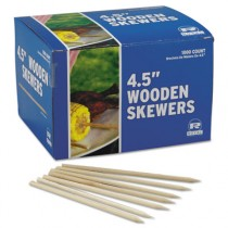 Wooden Skewers, 4-1/2 Inches, 1,000/Case