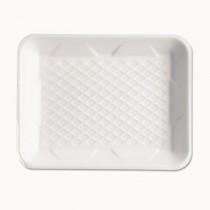 Supermarket Tray, Foam, White, 9-1/4x7-1/4x1-1/4, 125/Bag