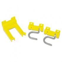 Closet Organizer and Tool Holder Kit, 3 1/4w x 4 1/4d x 4-1/4h, Yellow