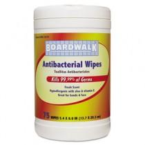 Antibacterial Wipes, 8 x 5 2/5, Fresh Scent, 75 per Canister, 6 per Carton