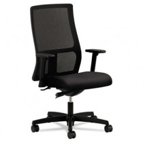 Ignition Series Mesh Mid-Back Work Chair, Black Fabric Upholstered Seat