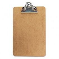 "Clipboard w/High-Capacity Clip, 1"" Capacity, Holds 6w x 9h, Brown"