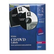 Laser CD/DVD Labels, Matte White, 40/Pack