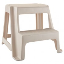 Two-Step Stool, 18 9/10l x 18 2/5w x 18 4/5h, Bisque